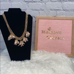 BCBG Multi Chain Gold and Pink Necklace